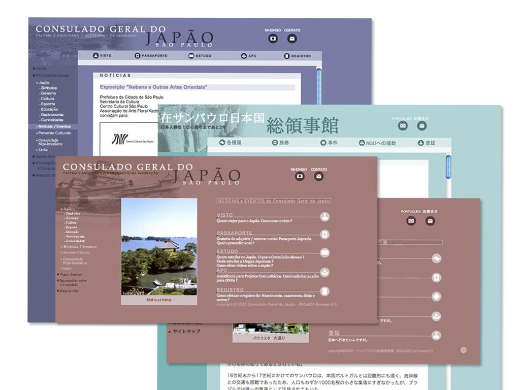 Website bilingue (design e arquitetura da informação).