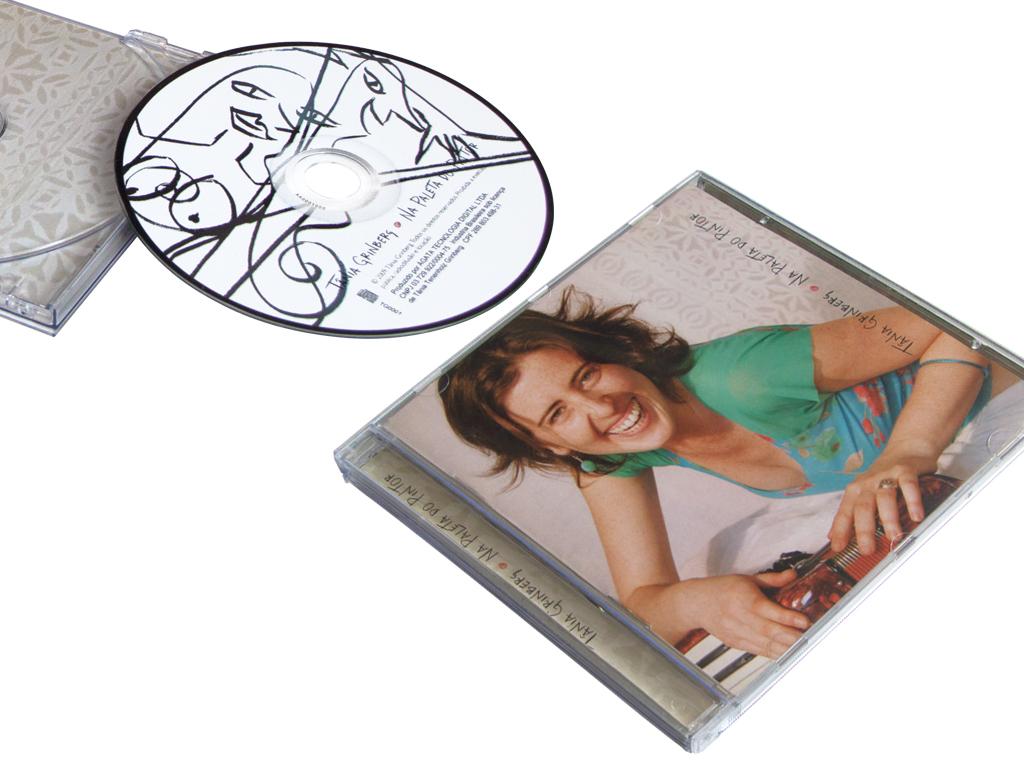 Projeto Gráfico de Capa e Rótulo de CD, e Hotsite (acesse o hotsite, clicando aqui): Na Paleta do Pintor.
