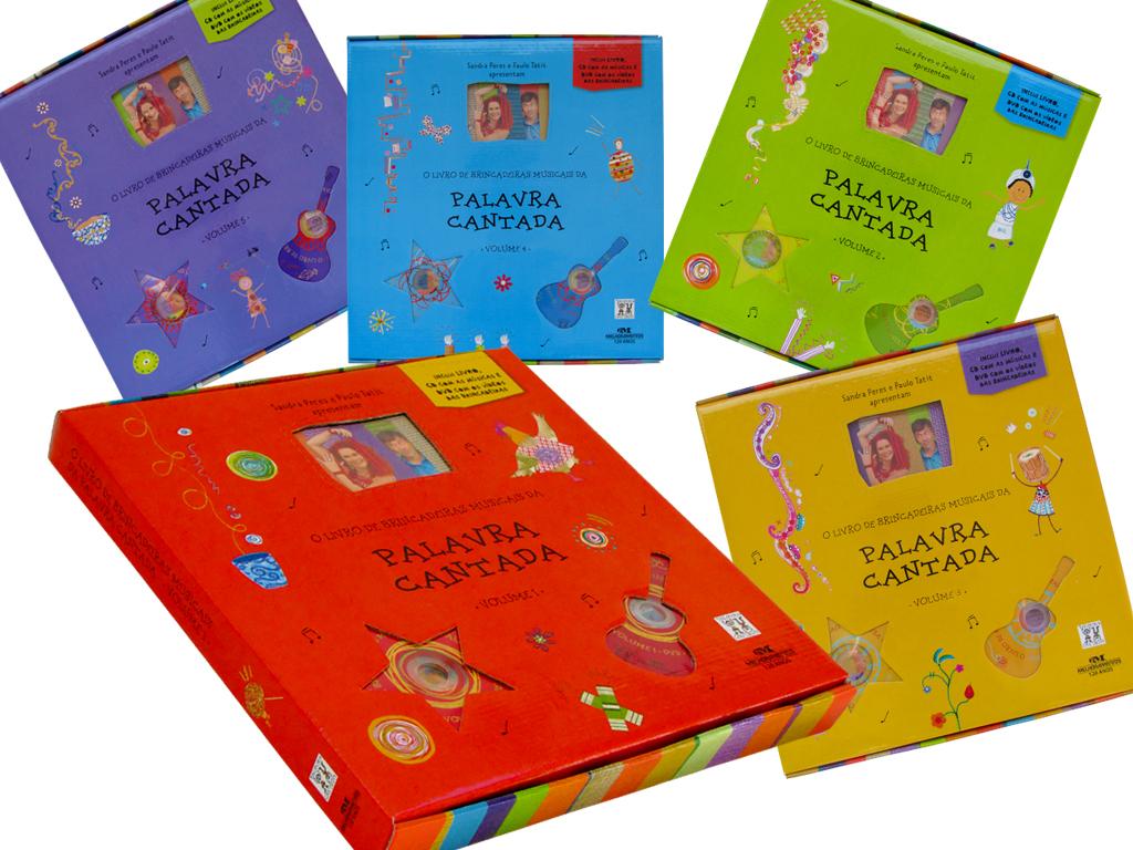Projeto Gráfico de Caixa, Rótulos de CD e DVD (editora Melhoramentos).