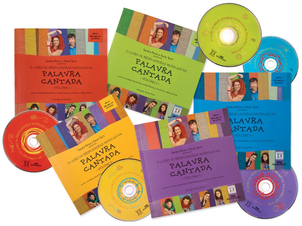 Projeto Gráfico de Capa e Miolo da coleção da Palavra Cantada (livro do professor e aluno) (editora Melhoramentos).