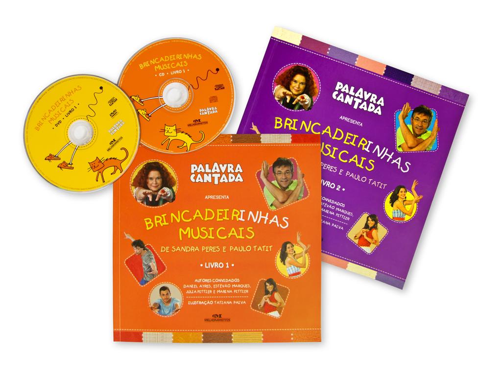 Projeto Gráfico de Capa e Miolo e rótulos de CD e DVD da coleção (editora Melhoramentos).