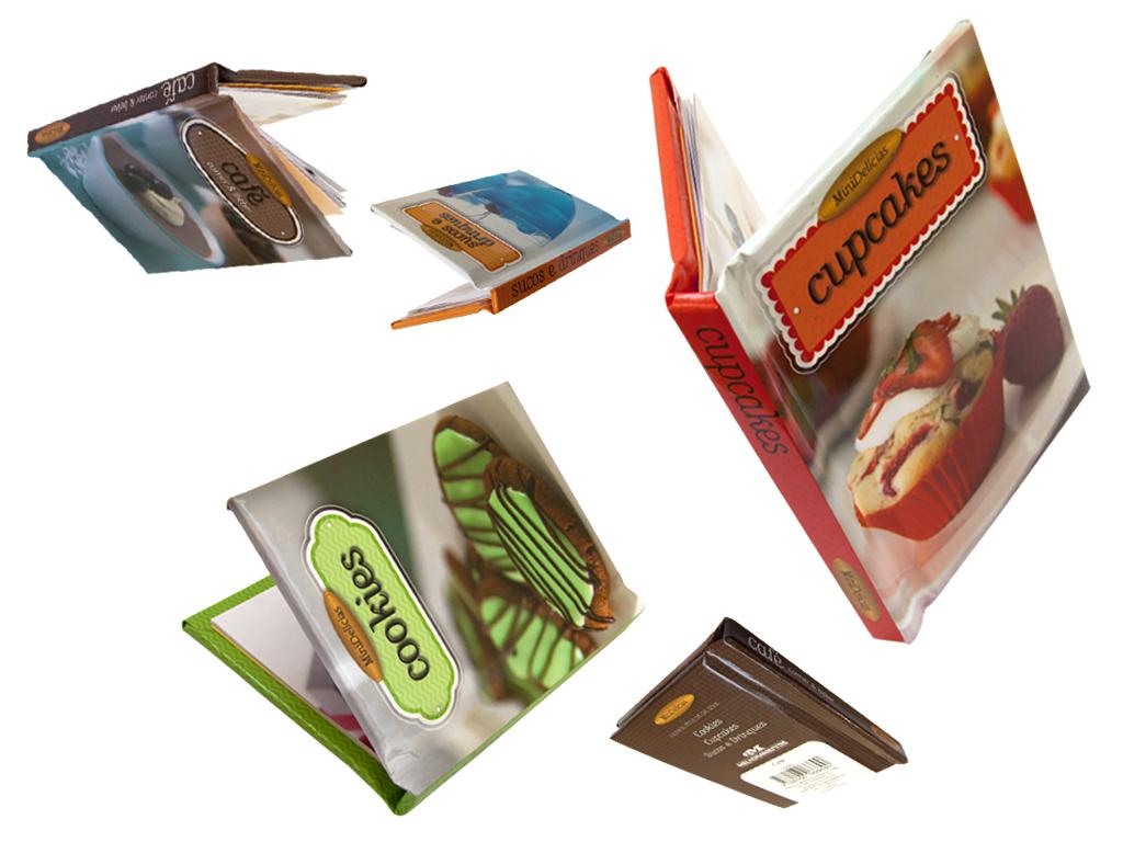 Capas de Livro da coleção Mini delícias. Livrinhos com capa magnética (editora Melhoramentos).
