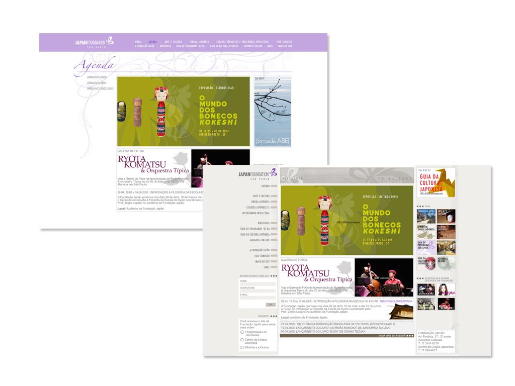 Arquitetura da Informação, Website e Gerenciamento da Agenda do Site.