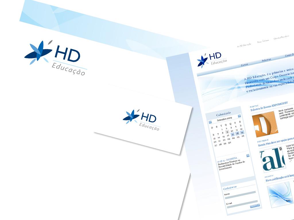 Logo, Peças Gráficas (Papel Timbrado Eletrônico e Cartão de Visita) e Website com sistema CMS integrado.