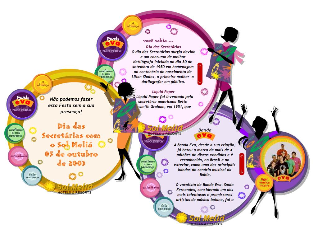 Hotsite (design e ilustrações) com Sitema de Gerenciamento de evento.