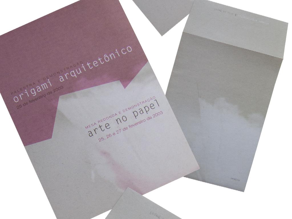 Peças Gráficas (Cartaz, Convite e Envelope) e Fotografia.