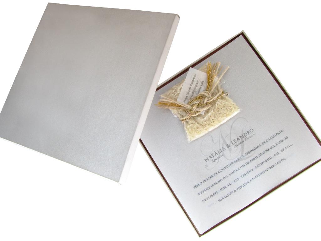 Convite de Casamento Artesanal.