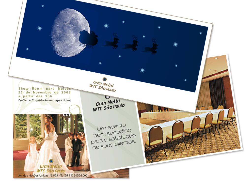 E-mail marketing de: Cartão de Natal e Promocionais do Hotel.