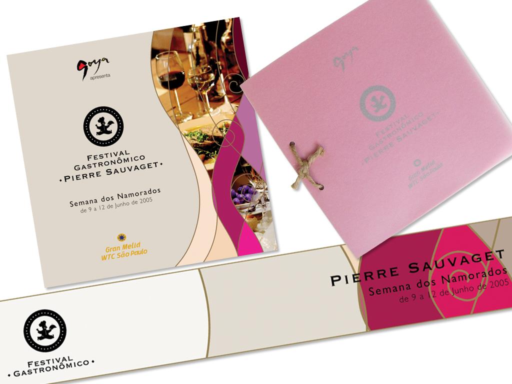 Peças Gráficas (Convite e Cardápio) e Banner Eletrônico.
