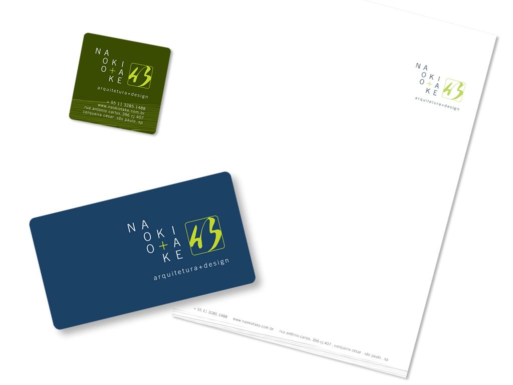 Peças Gráficas (Cartão de Visita e Papel Timbrado Eletrônico).