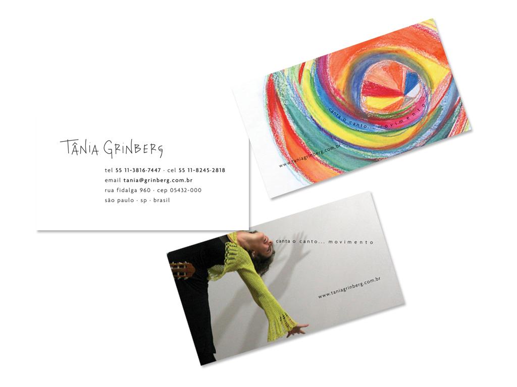 Logo (a partir da assinatura da artista) e Cartões de Visita.