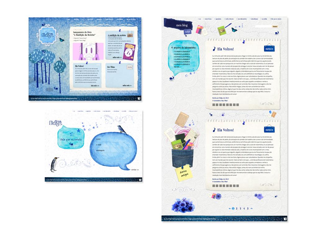 Website (Design e Ilustrações) com integração do sistema WordPress.