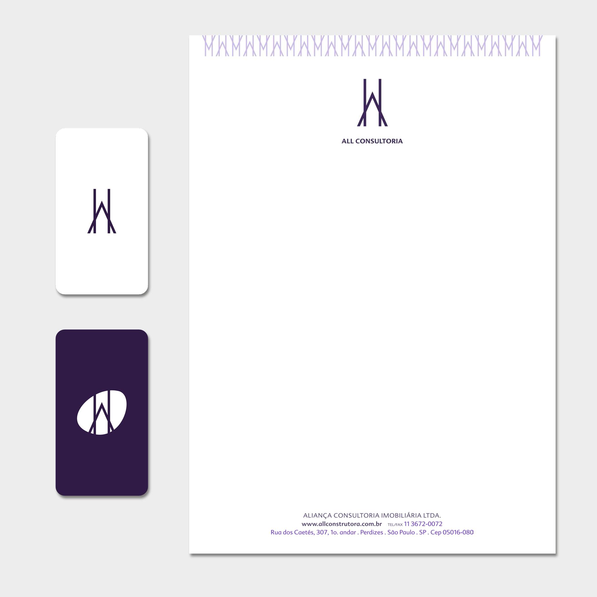 Papelaria (Papel Timbrado Eletrônico e Cartão de Visita).