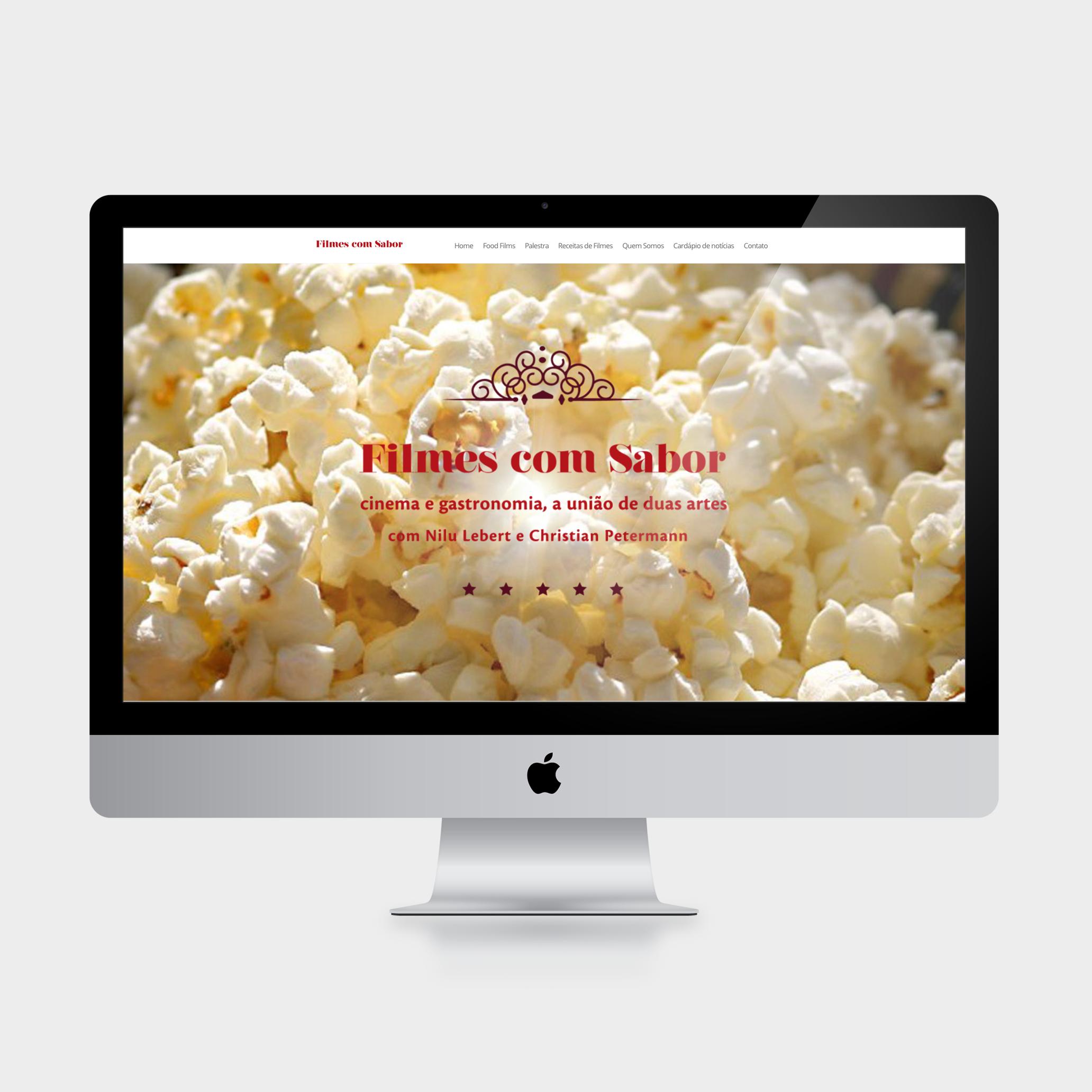 Website integrado com sistema WordPress (acesse  o site clicando aqui).