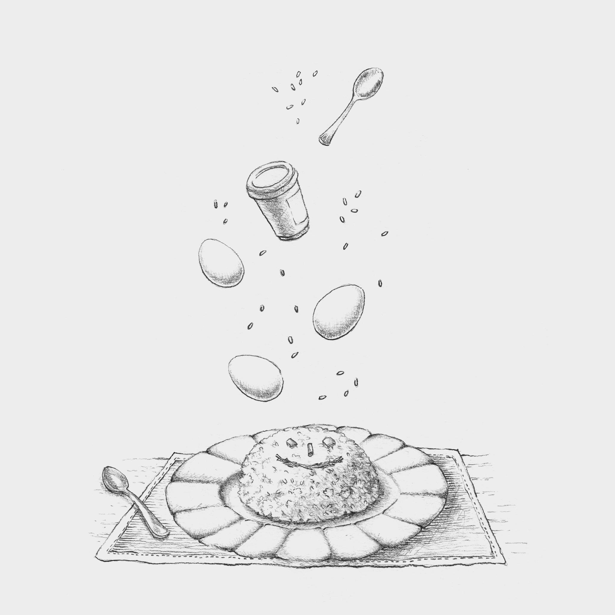 Ilustrações para livro sobre maternidade.