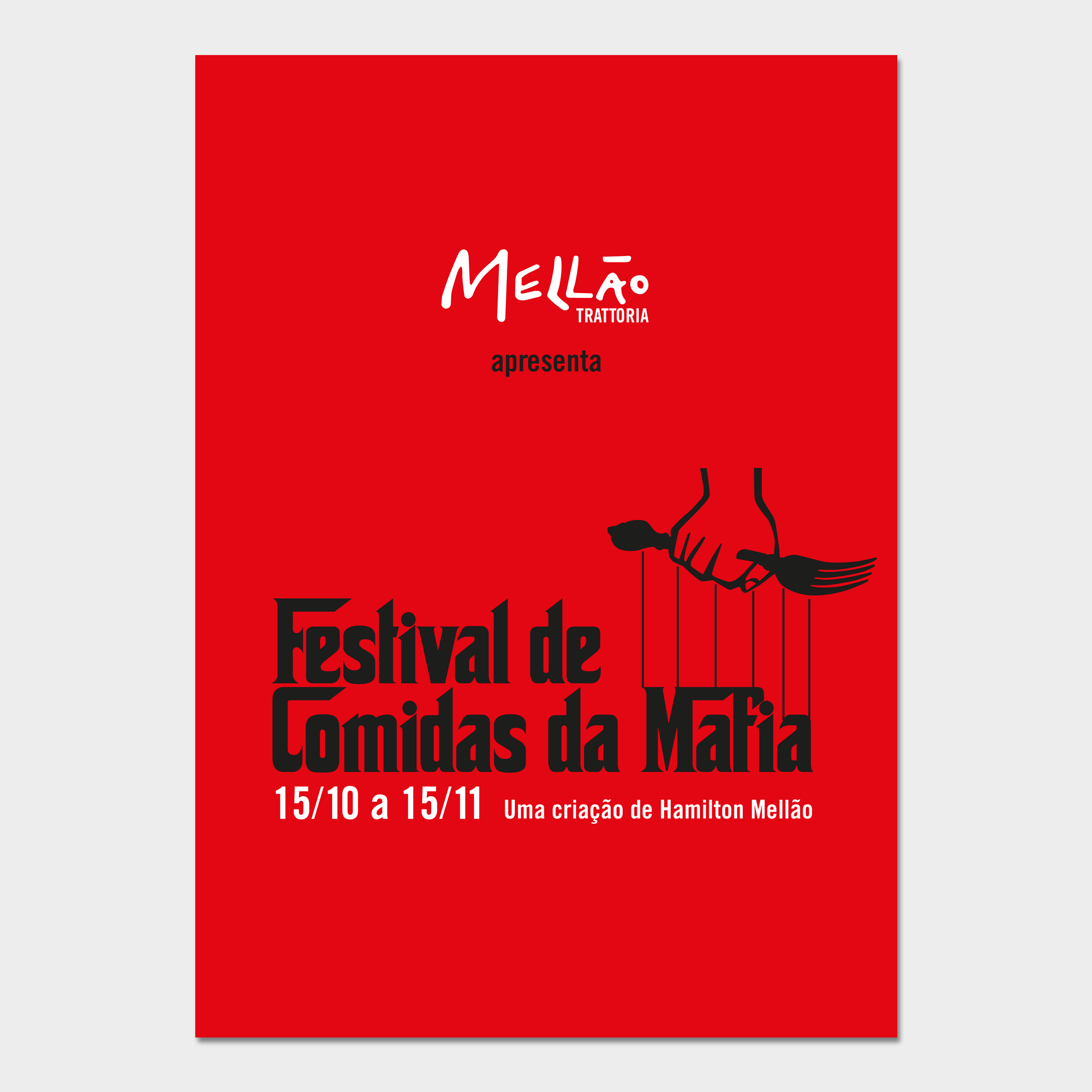Banner para o Festival da Máfia.