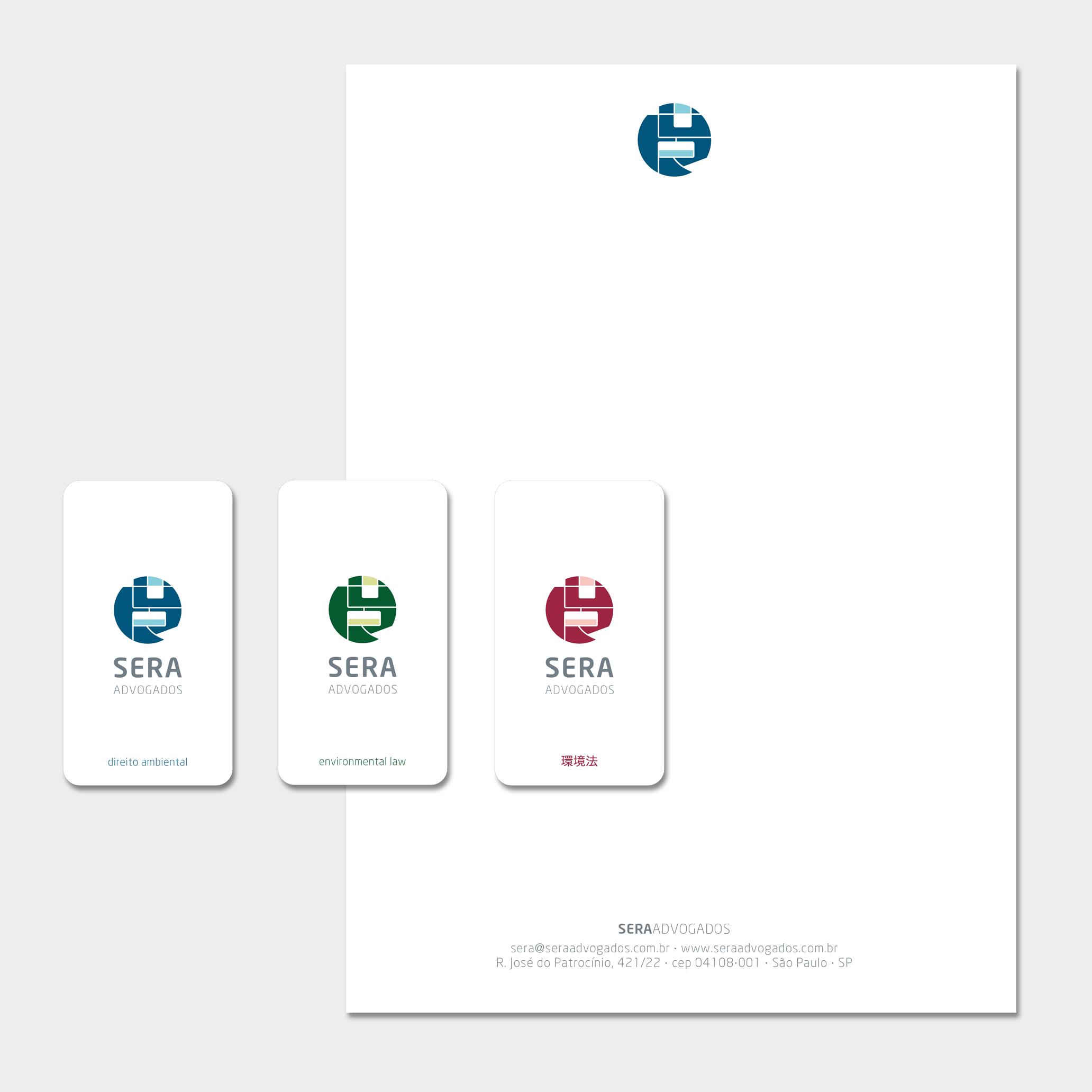 Papelaria (Cartões de Visita Trilingue, Papel Timbrado Eletrônico).