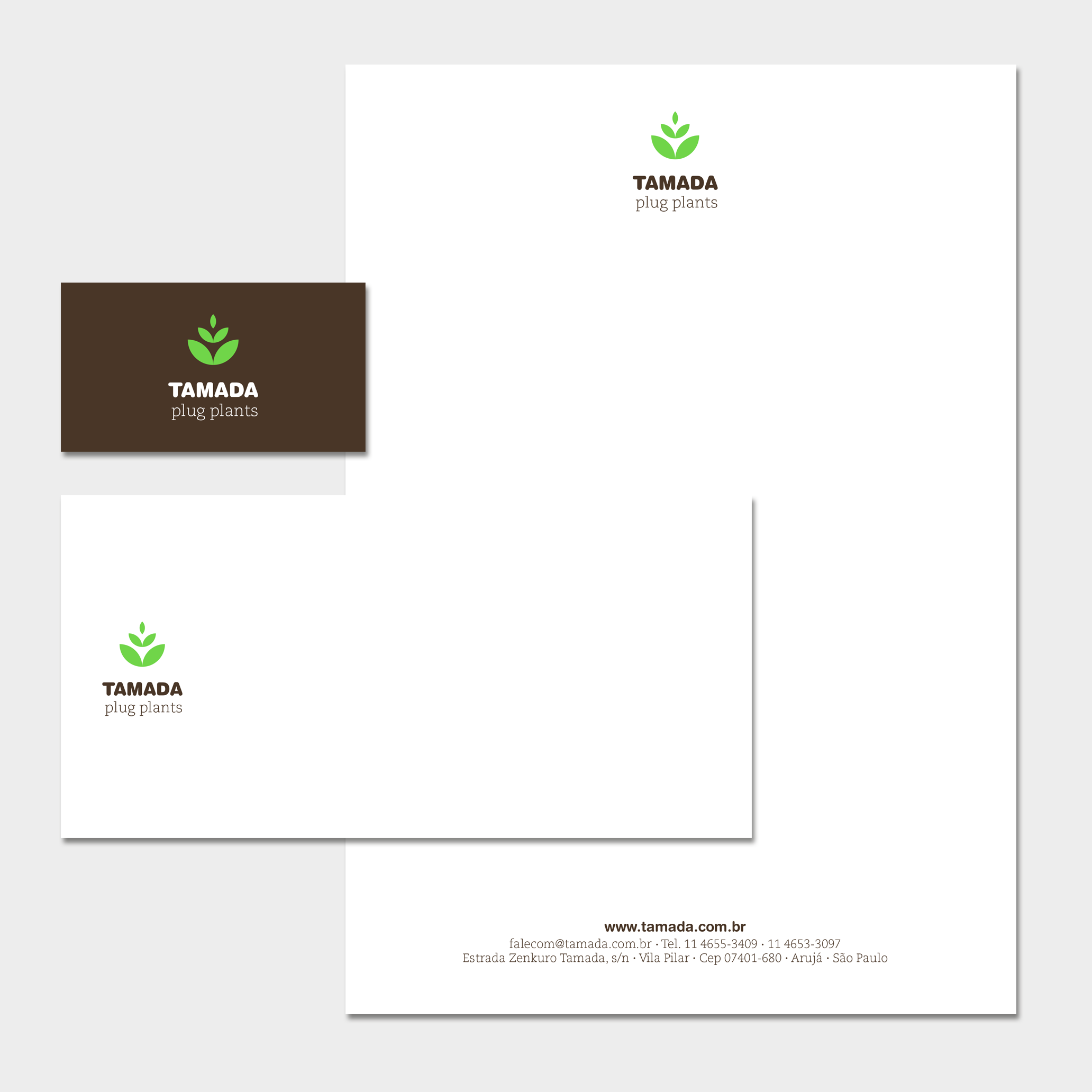 Papelaria (Cartão de Visita, Envelope e Papel Timbrado Eletrônico).